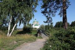 Olonec. Kathedrale unserer Dame von Smolensk Lizenzfreies Stockfoto