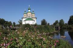 Olonec. Kathedrale unserer Dame von Smolensk Stockbild
