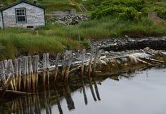 Olony van de archeologische plaats van Avalon in Ferryland Stock Fotografie