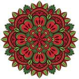 Olor ¡ Ð, мандала вектора с цветочным узором Стоковые Фото