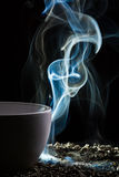 Olor del buen té de una taza foto de archivo