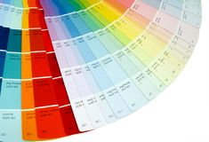 Olor swatch. Open colr swatch Stock Photo