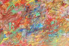 Сolor texture of brush strokes. Royalty Free Stock Photography