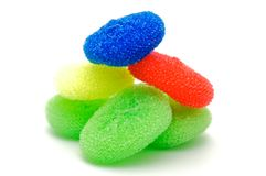 Сolor wisps for ware washing Stock Images