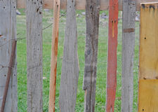 Сolor wooden fence Royalty Free Stock Image