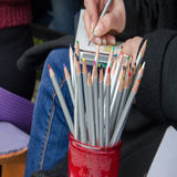 Olored blyertspennor för Ð ¡ Arkivbild