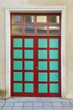 Сolored old doors in Tallinn. Beautiful colored old doors in the old town in Tallinn Stock Photo