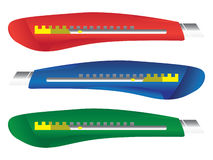 Olored plastic paper knifes Stock Photography