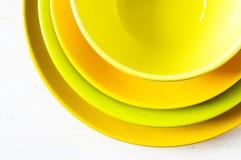 Сolored plates Stock Photography