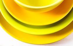 Сolored plates Stock Photo