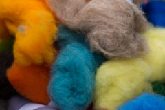 Сolored skeins of wool Royalty Free Stock Photos