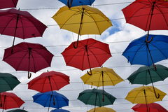 Сolored umbrellas Stock Images