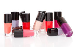 Сolored varnishes in different provisions Stock Images