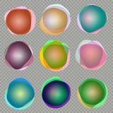 olorful τρισδιάστατα στρογγυλά εμβλήματα 10 eps διανυσματική απεικόνιση