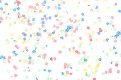 olorful confettis Arkivfoton