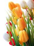 Olorful del fiore artificiale del tulipano Immagini Stock Libere da Diritti