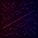 Сolorful fireworks. For you design Royalty Free Stock Images