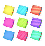 Сolorful pillows. Colorful cushions on a white background. isolated Stock Photography