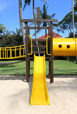 Olorful playground at a tropical resort Royalty Free Stock Photography