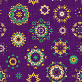 Сolorful seamless pattern in flowers. Royalty Free Stock Image