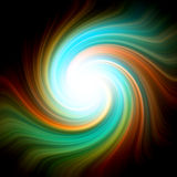 Сolorful shining spiral. Abstract background with colorful shining spiral Stock Illustration