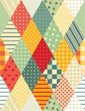 Ð ¡ olorful stebnowanie Bezszwowy patchworku wzór Zdjęcie Stock