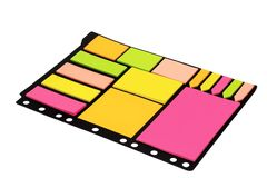 Olorful sticky notes isolated on white background. Office supplies stock image