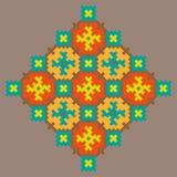 Olorful stikkend patroon Ð ¡ op een beige achtergrond royalty-vrije illustratie