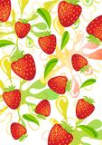 Сolorful strawberry background Royalty Free Stock Image