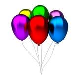 Olorful urodziny balony Zdjęcie Royalty Free