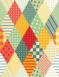 Olorful vaddera för Ð-¡ Sömlös patchworkmodell Arkivfoto