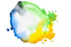 Сolorful watercolor stain Stock Image