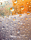 Olorful waterdrops onwindow Stock Photo