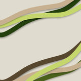 Colorful wavy stripes, vector  Stock Photos