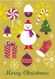 ?olorful Weihnachtshintergrund Stockfoto