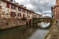 Saint jean pied de port royalty free stock photo