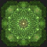 Olour διακοσμητικό στοιχείο σχεδίου Ð ¡ με ένα κυκλικό σχέδιο mandala Στοκ Φωτογραφία