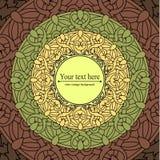 Сolour decorative background with a circular pattern. Mandala Stock Photo
