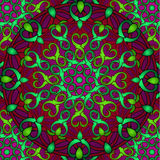Сolour decorative background with a circular pattern. Mandala Royalty Free Stock Photo