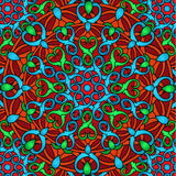 Сolour decorative background with a circular pattern. Mandala. Stock Images