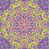 Сolour decorative background with a circular pattern. Mandala Royalty Free Stock Image