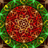 Сolour decorative background with a circular pattern. Mandala Stock Image