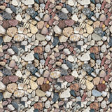 Сoloured gravel seamless texture Royalty Free Stock Image