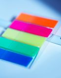 Oloured plastic stickers Stock Photography
