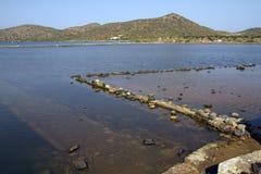 Olous, Creta, Grécia, a cidade afundado Imagens de Stock Royalty Free