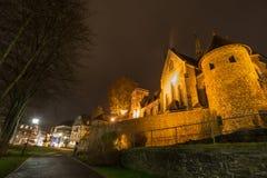 Olpe Allemagne d'église de St Martinus la nuit image libre de droits