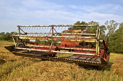 Ols self-propelled grain swather Stock Images