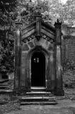 Olsany公墓的,布拉格哥特式土窖,捷克语 免版税图库摄影