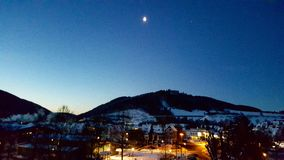 Olsberg τή νύχτα Στοκ εικόνες με δικαίωμα ελεύθερης χρήσης