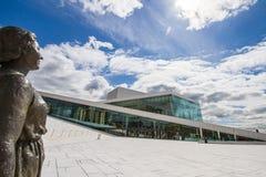 Olso ronde reis - Operahuis Stock Afbeelding